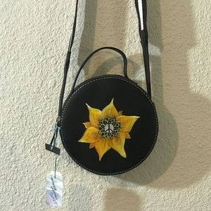 Hand painted peace purse